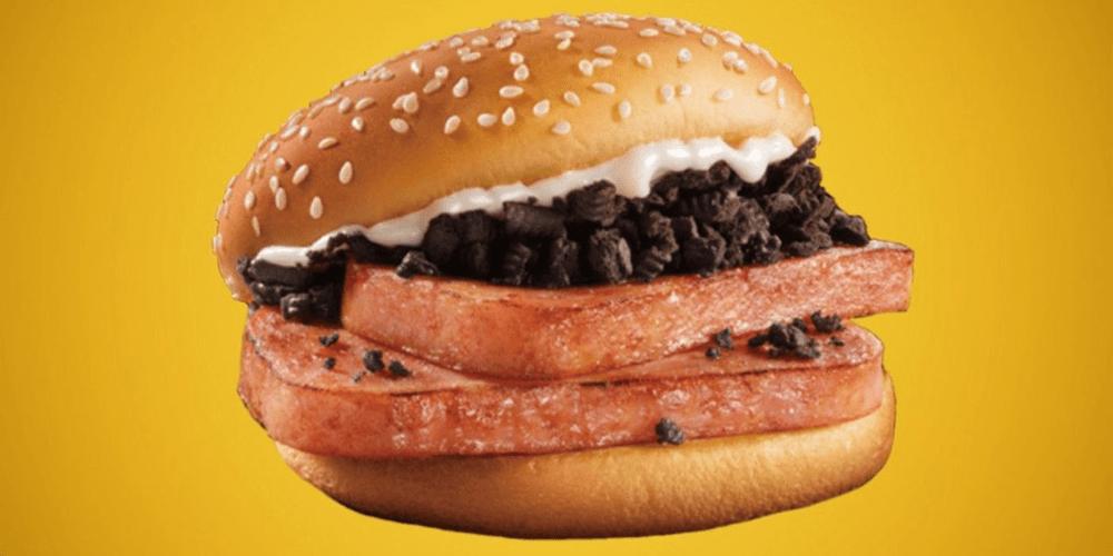 oreo spam burger